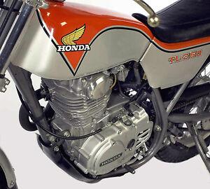 Honda 1975 1976 TL250 TL Trials tank wings 4 3/8