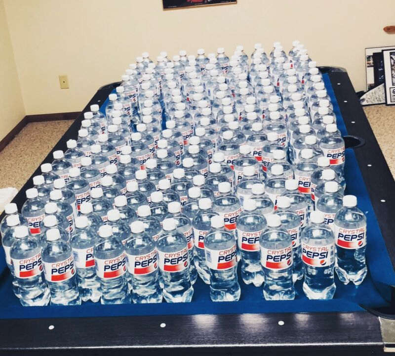 CRYSTAL PEPSI ENTIRE Case (12 Bottles) BRAND NEW! 2018 20 oz IN HAND