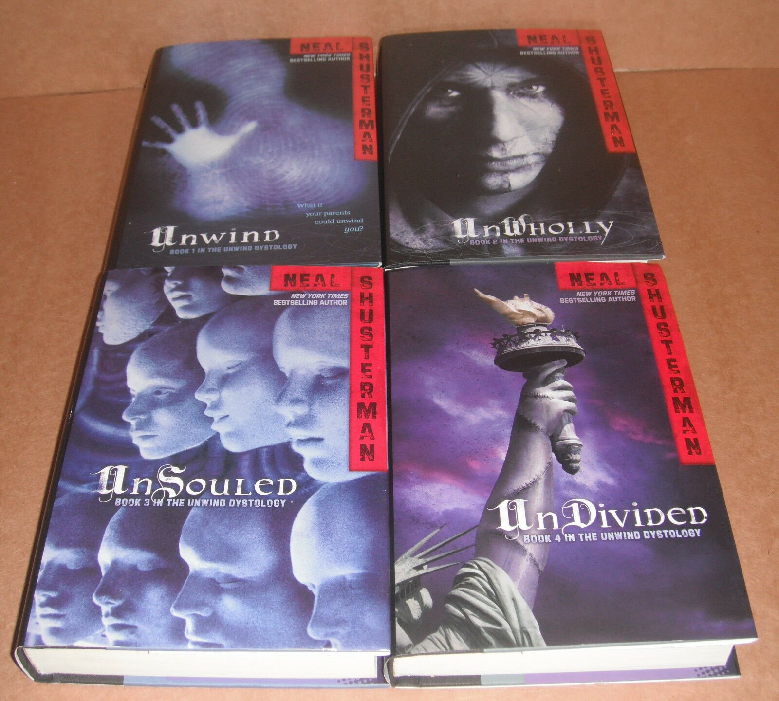 Unwind Dystology Vol1,2,3,4plete Collection Neal Shusterman Hardcover  New