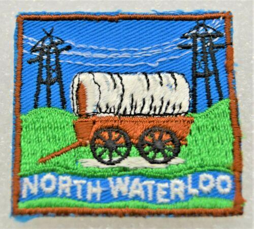 NORTH WATERLOO DISTRICT Vertical Stitching in Grass Boy Scout Badge Cdn. (ONN3C)