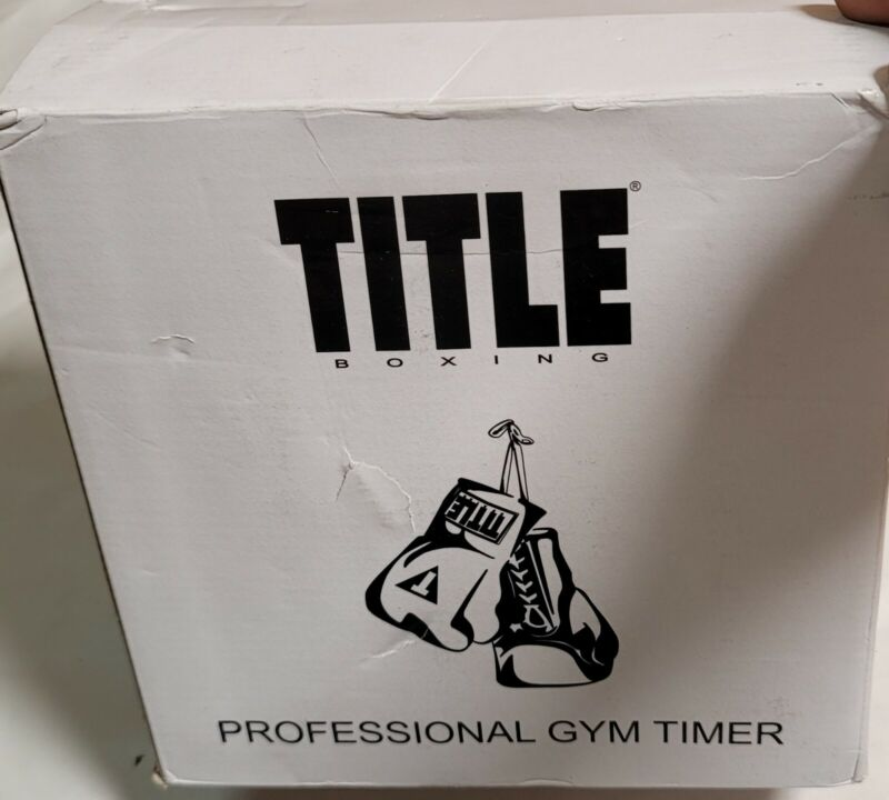 TITLE Boxing Pro Digital Gym Timer New Open Box