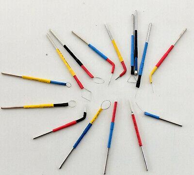 Electrodes Surgery Dental Tips Electrosurgery Set Of 15 Pcs. Dermatology By Dhl