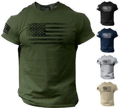 USA Distressed Flag Men T Shirt Patriotic American Tee Clothing, Shoes & Accessories