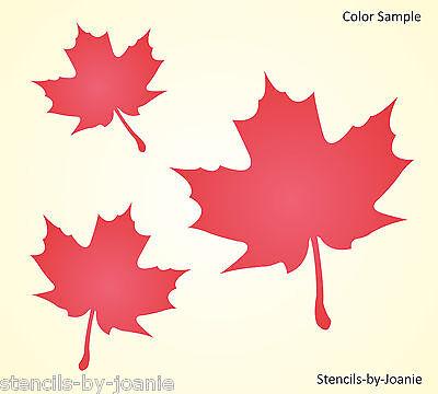 Maple Leaf Stencil Lodge Cabin Home Decor Autumn Fall Harvest Tree Art Signs