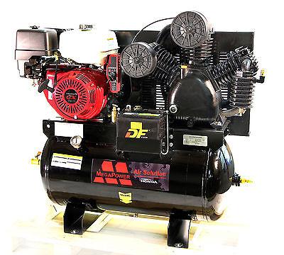 13hp Honda Gx390 - Gas Drive - Service Truck 30 Gallons Mega Air Compressor