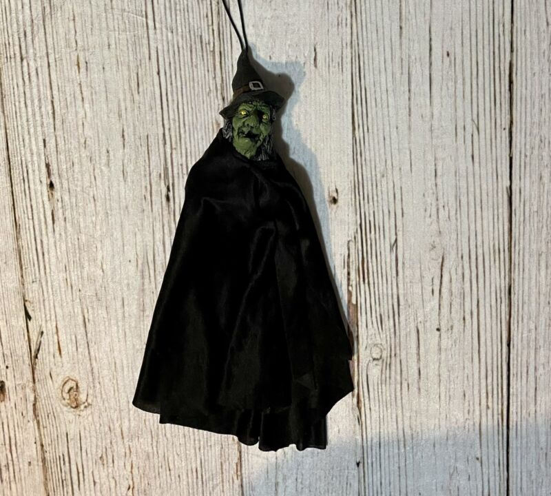 Vintage 1999 Scary Spooky Hanging Halloween Witch Doll Figure- Brand Paper Magic