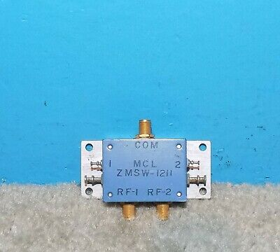 Mini Circuits Reflective Spdt Pin Diode Switch 10-250mhz 50 Sma Zmsw-1211