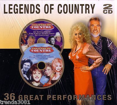 Legends Country 2Cd Classic Greatest Performances Boxcar Willie Tanya Tucker
