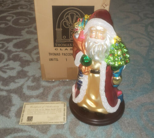 "Thomas Pacconi Classics 2003 - 16"" Blown Glass Santa"