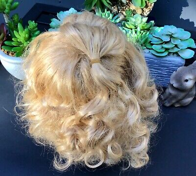 Beautiful Blonde Wig for Antique Doll - Fits 9 1/2 Inch Head
