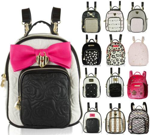 Betsey Johnson Mini Small Convertible Travel Backpack Purse