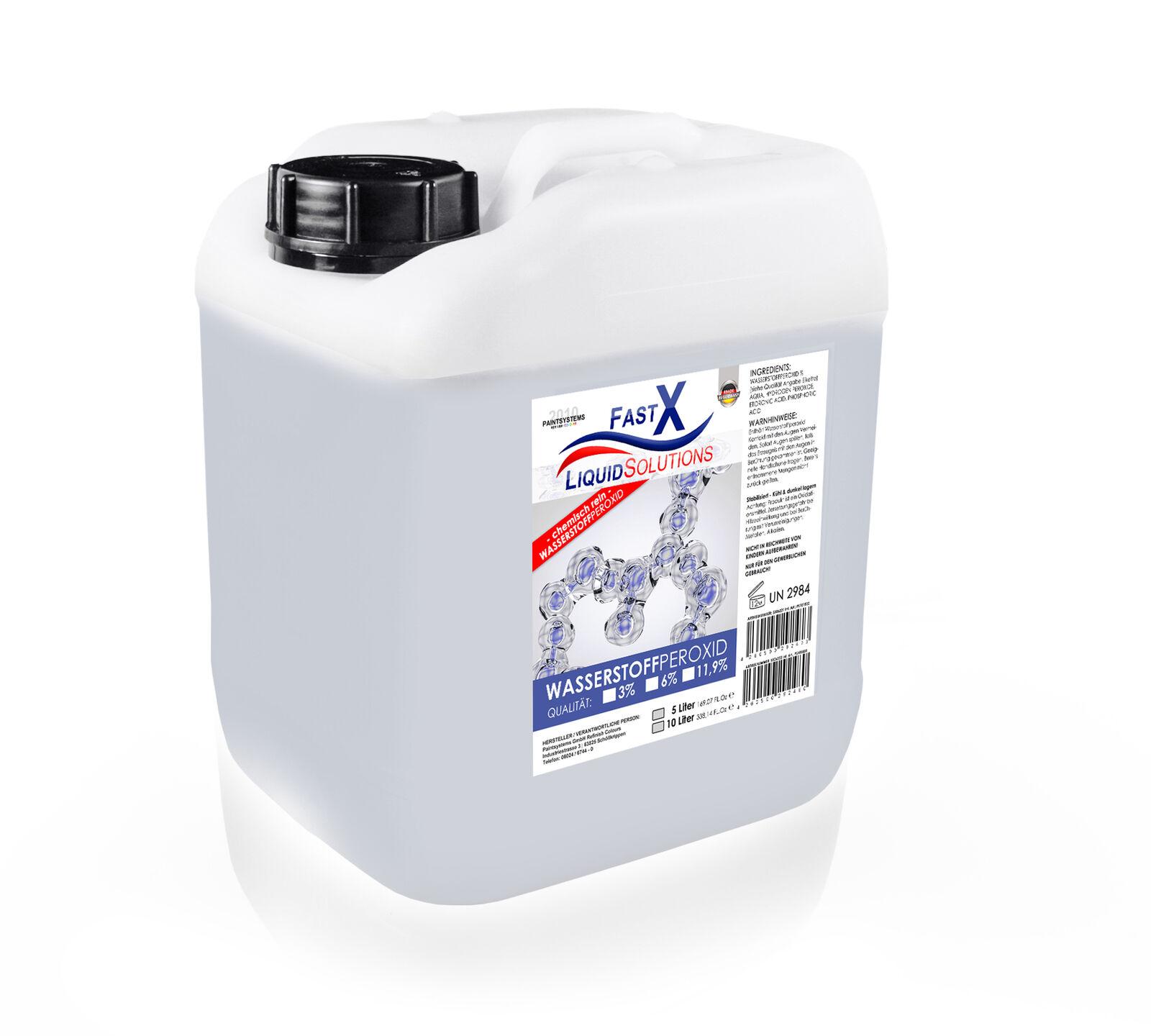 Wasserstoffperoxid H2O2 Entwickler - 5L als 3, 6 oder 11,9 % Qualität
