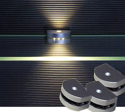 LED 3 Seiten Clip Glaskantenbeleuchtung warm weiß Glasbodenbeleuchtung Art.2295