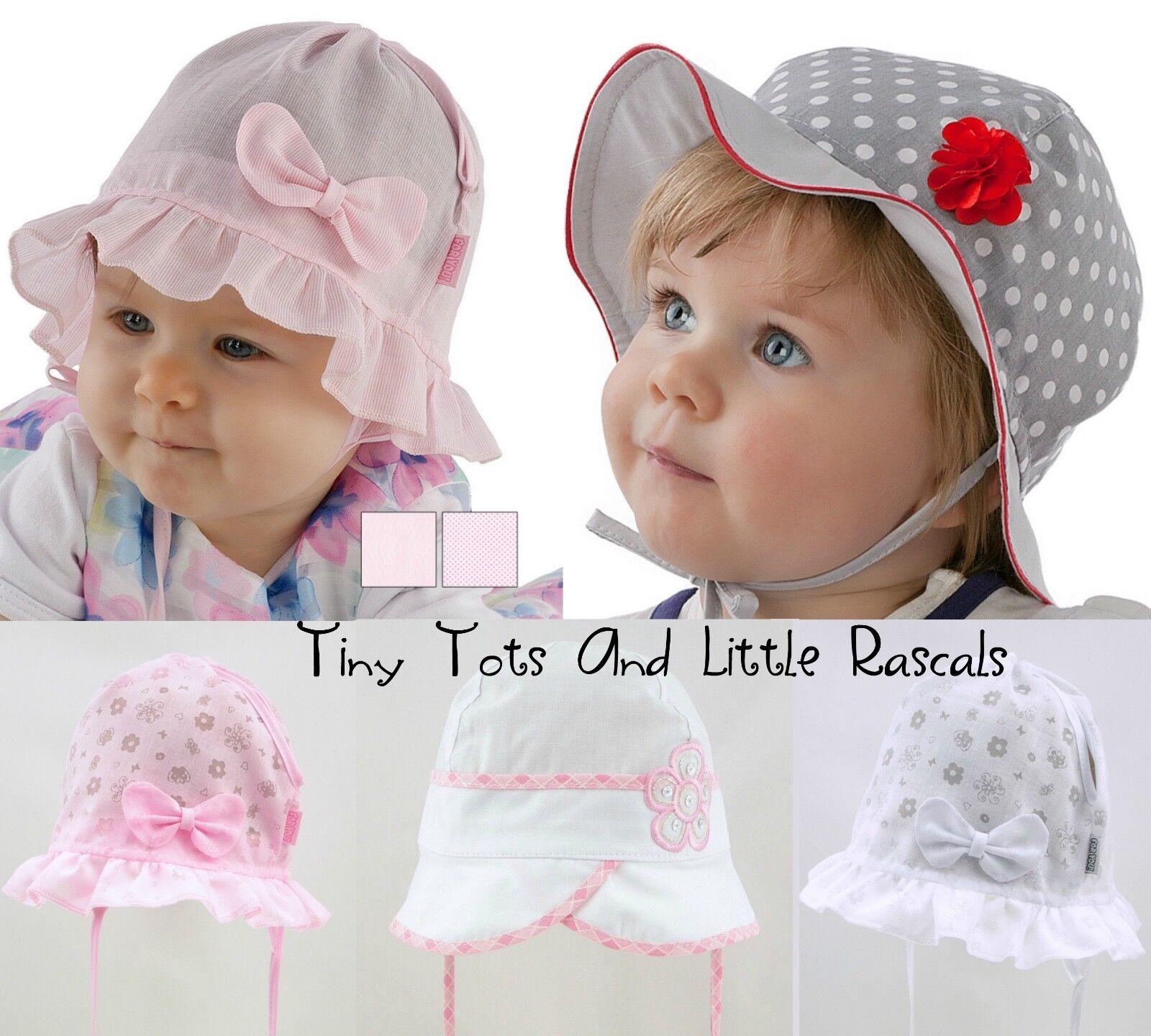 Baby Girl Toddler Soft Cotton Summer Sun Hat Cap Bonnet Outdoor Size 0 - 8 years