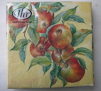 IHR - 20 Servietten Apple Harvest ♥ Ideal Home Range 33 x 33cm Äpfel Herbst Apple Serviette