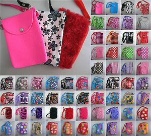 Mobile-Phone-Bag-with-Shoulder-Strap-case-cover-holder-sock-pouch-skin-sleeve