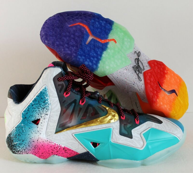 "Nike Lebron 11 Premium 10.5 ""What The Lebron"" 650884 400 USSH1602155911"