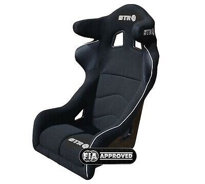 STR Black 'Potenza' FIA Approved 2025 Full Containment Rally Race Seat Oval