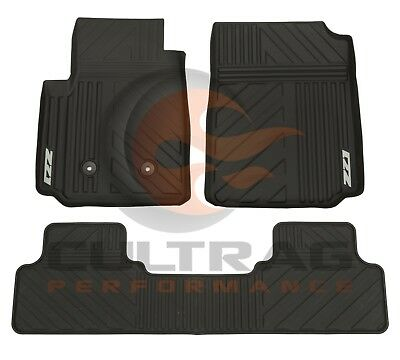 2015 2018 Colorado Crew Cab Z71 GM Front  Rear All Weather Floor Mats Black