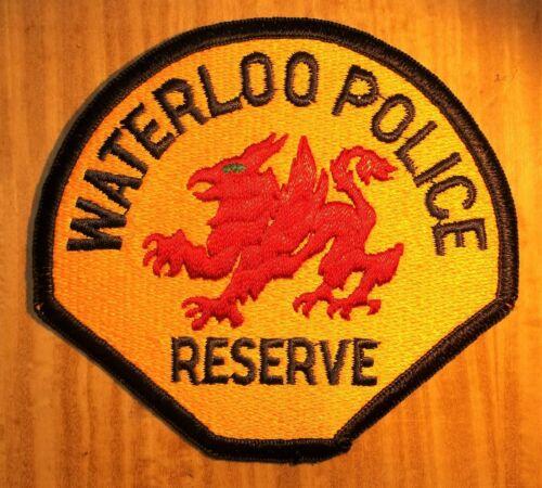 "GEMSCO NOS Vintage Patch POLICE ""THE PATCH"" WATERLOO IA Original 35+ - V3"