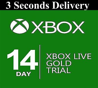 XBOX LIVE 14 day GOLD  TRIAL Membership CODE INSTANT DISPATCH - 2 weeks 14 days