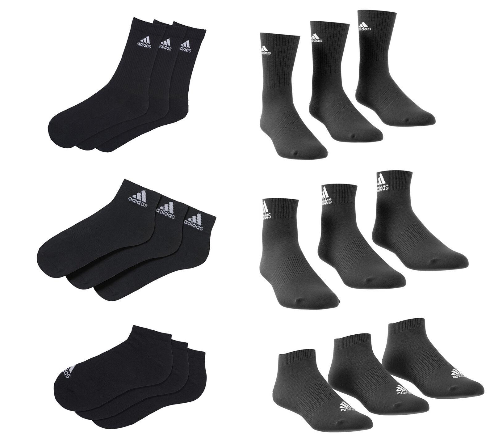 Adidas Sneaker / Quarter / Sport Socken 3/6/9/12 Paar sortiert schwarz weiss