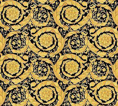 Versace Home Wallpaper Ornament black gold Metallic 935834 (9,98£/1qm)