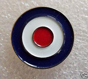 MOD blue, red & white Roundel motorcycle enamel pin lapel badge mods