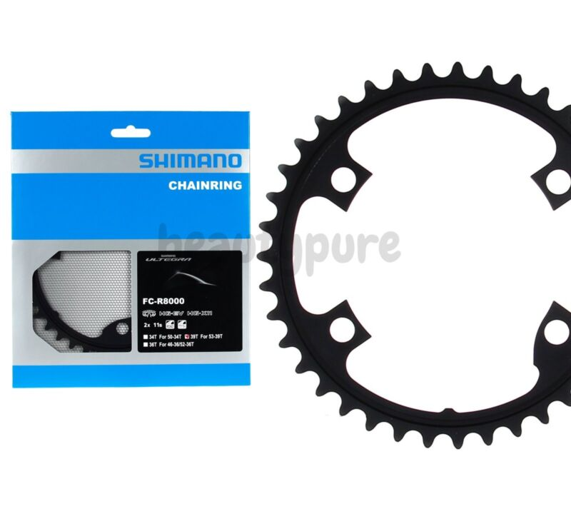 Black Shimano 34T Ultegra FC-R8000 Inner Chainrings 11 Spd