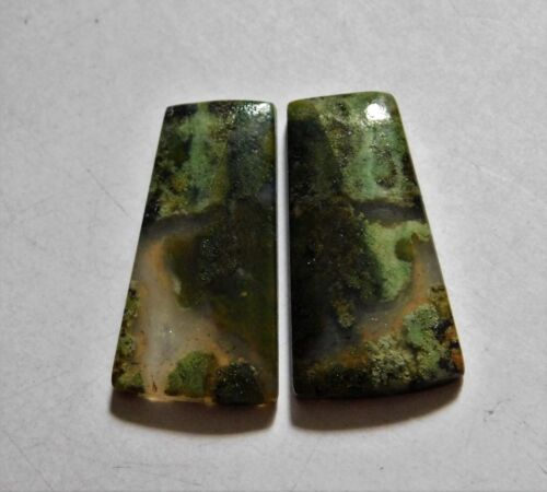 21.65 Cts Natural Blood Stone (25mm X13mm each) Loose Cabochon Match Pair