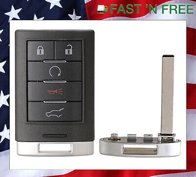 NEW REPLACEMENT FOR 2011 Cadillac SRX KEY LESS ENTRY SMART KEY FOB 5 BUTTON PROX