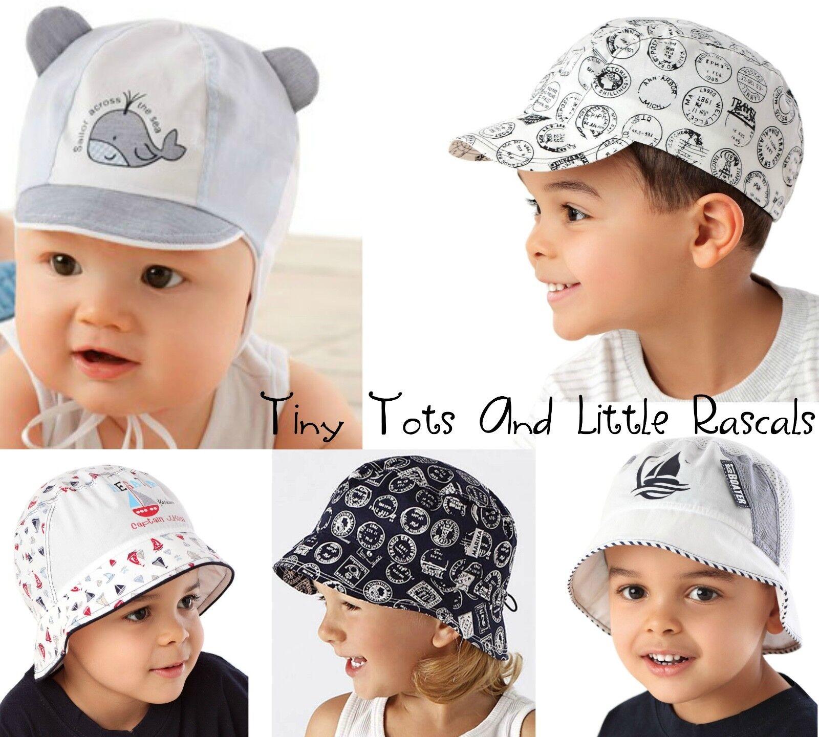 Baby Boy Toddler Kids Holiday Beach Summer Cotton Sun Cap Hat newborn - 8 years