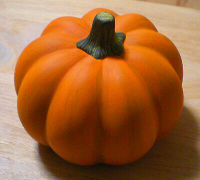 "Decorative Pumpkin For All Holidays,Ceramic,4 3/4"" Diameter,4 1/2"" Tall,Not Used"