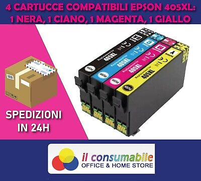 KIT 4 INK JET 405xl BK C M Y COMP. EPSON WorkForce Pro WF-3820DWF WF-7830DTWF