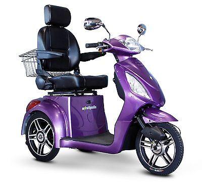 EWheels Purple FAST EW-36 Mobility Scooter, Electric 3 Wheel Cart, 400 lb Cap.