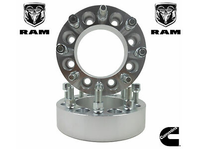 "2 Pc Dodge Ram 2500 3500 Dually |9/16 Thread| 2""| 8 Lug Wheel Spacers Adapters"