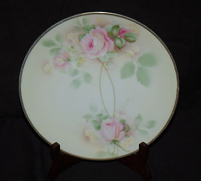 "Erdmann Schlegelmilch  Prussia Floral Adorned 8-1/2""  Decorative Plate"