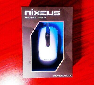 Nixeus REVEL Matte White Gaming Mouse - 12000 DPI PixArt PMW3360 - New & Sealed