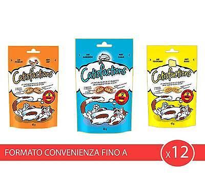 x12 Catisfaction cibo ricompensa gatto SNACK 60GR gatti premio