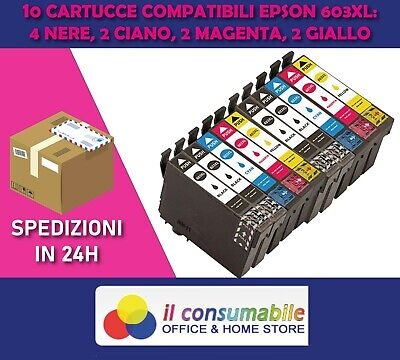 KIT 10 INK JET 603XL COMP. EPSON Expression Home XP-2100 Series Epson WorkForc