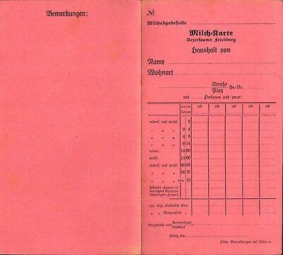 Historisches Dokument~Fleisch-+Milchkarte Großherzogtum Baden 1916/19 Orig. WW1
