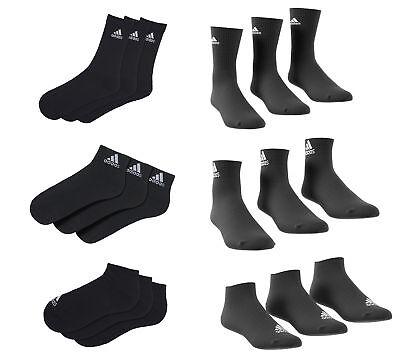 Adidas Socken Set als Sneaker, Quarter o. Sport in schwarz oder weiß bis 12 Paar ()