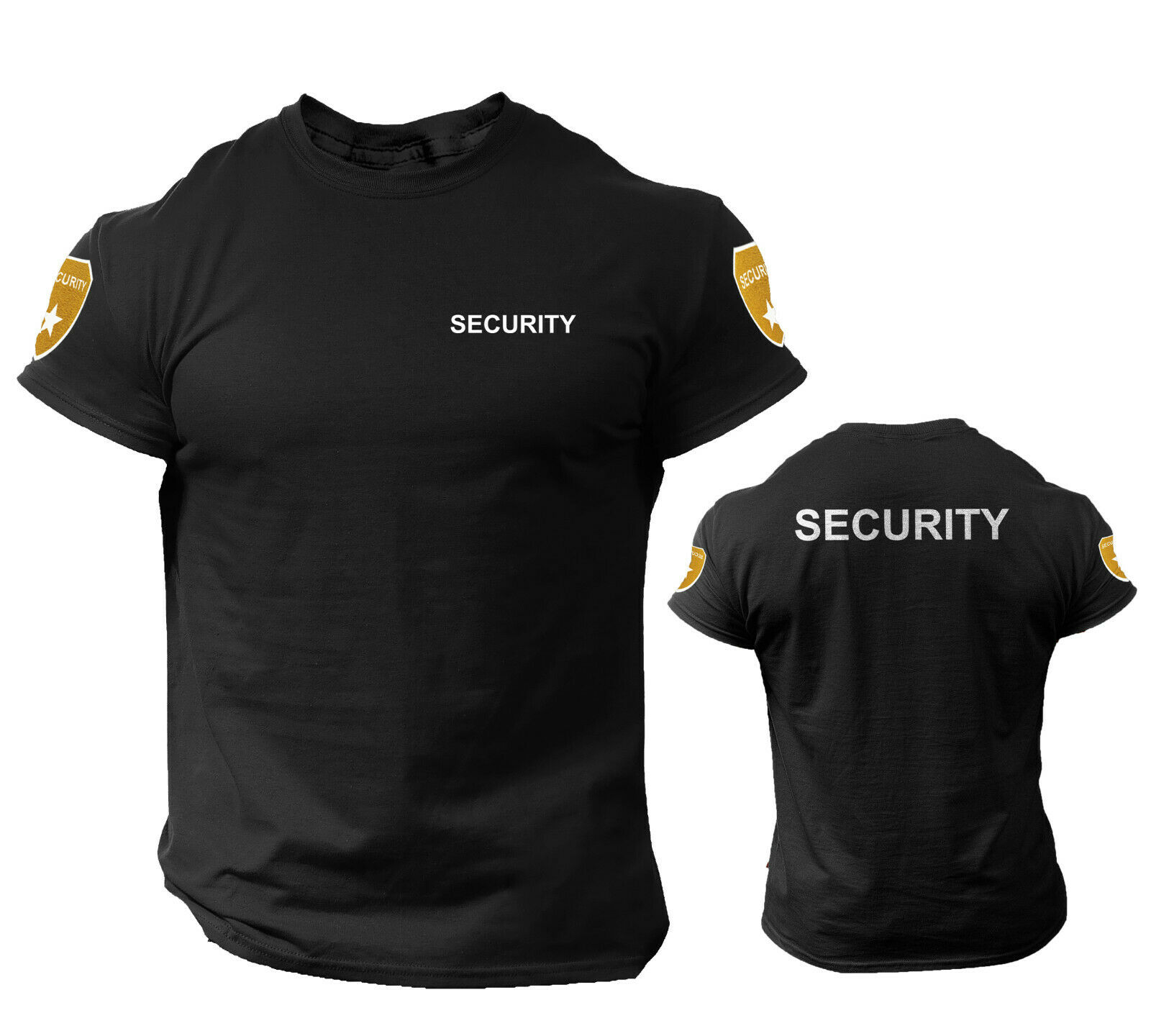 Security T Shirt Event Staff Office Double Sided Badge Front/Back Clothing, Shoes & Accessories