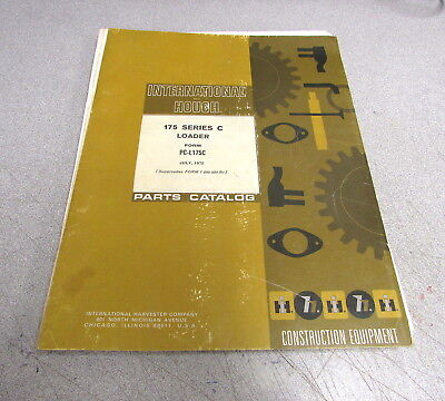 International Hough 175 Series C Loader Parts Catalog Manual Pc-l175c 1972
