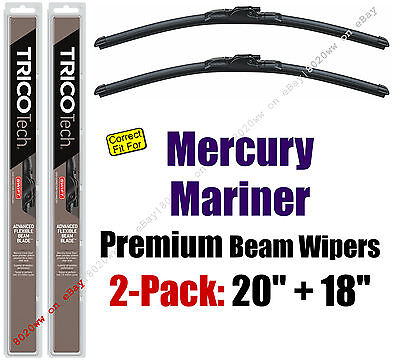 Wipers 2-Pack Premium Wiper Beam Blades fit 2005-2007 Mercury Mariner 19200/180