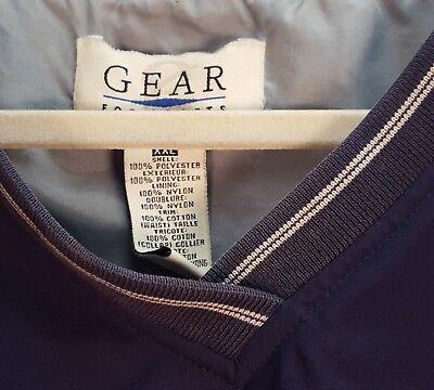 GEAR For SPORTS Windbreaker Jacket Size XXL Dark Blue V-Neck Lined (Z)
