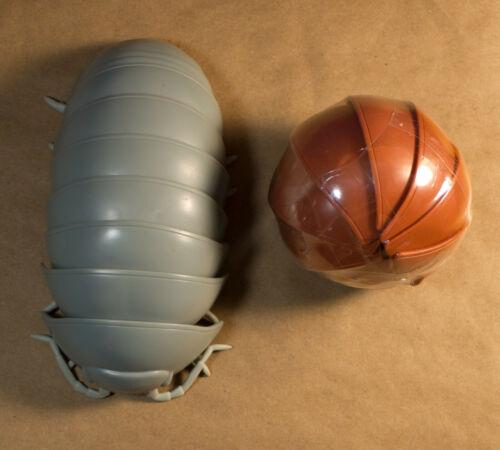 Bandai Dango Mushi Pill Bug Lot of 2 Dark Gray and Brown
