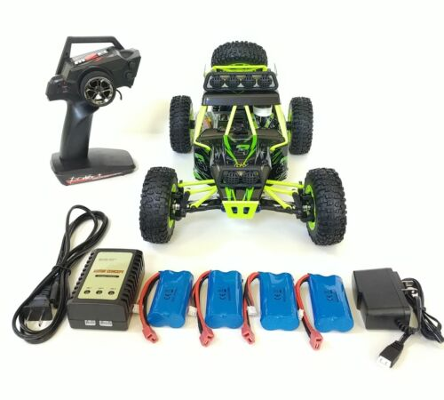 WLtoys 12428, 2.4GHz, 4WD, 4batteries, 2chargers, RC Off-road Car. USA dealer.