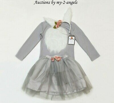 NEW Pottery Barn Kids WOODLAND BUNNY TUTU HALLOWEEN COSTUME 4-6 4T 5 6 * girl