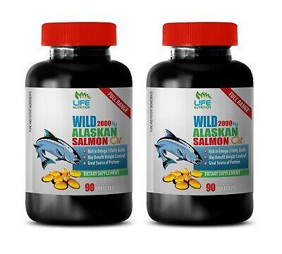 brain pills - WILD ALASKAN SALMON OIL - omega fatty acids for men 2B